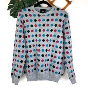 Asos | Medium Polka Dot Knit Grey Sweater